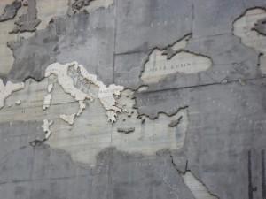 Հռոմւմ պատի վրա քարտեզ (մ.թ.ա. 2-3 դար) / Карта на стене в Риме (2-3 век д.н.э.) / The map on the wall in Rome (2-3 century BC)